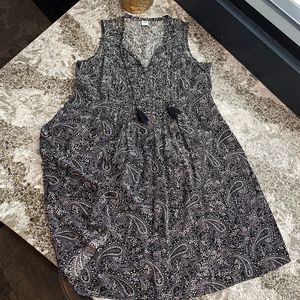 Old Navy Small Tall Black and White Dress